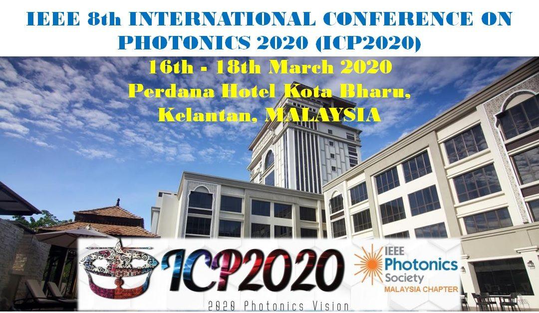 ICP2020 – IEEE 8th International Conference on Photonics